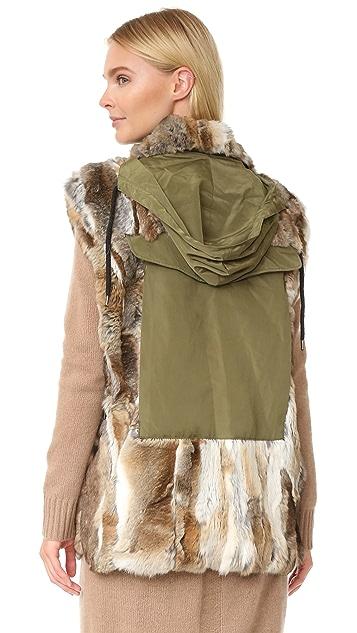 Adrienne Landau Rabbit Army Vest