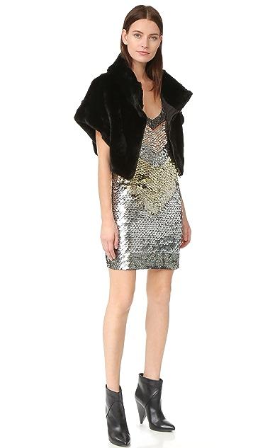 Adrienne Landau Rex Fur Little Zip Jacket