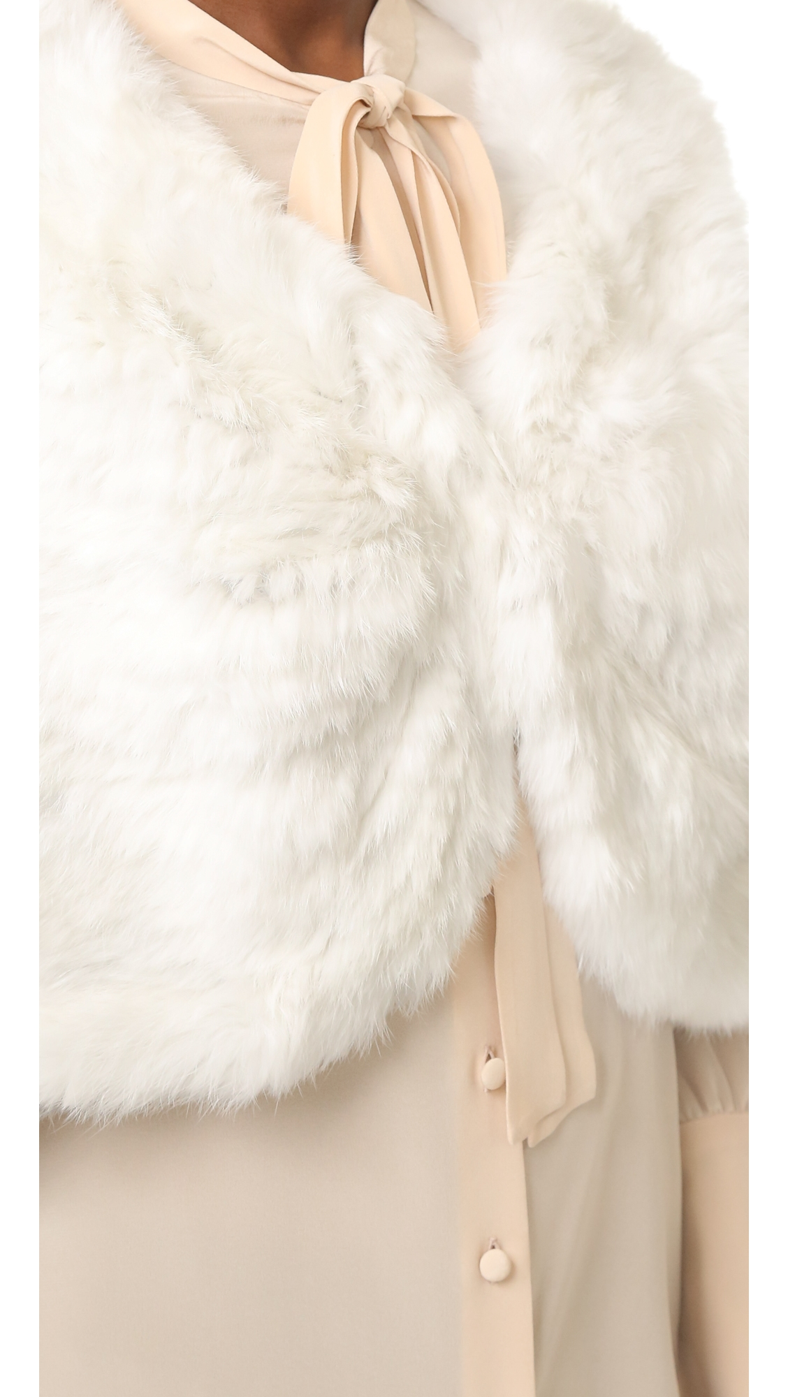 Вязаная меховая накидка Adrienne Landau  (ADRIE2008512867314)