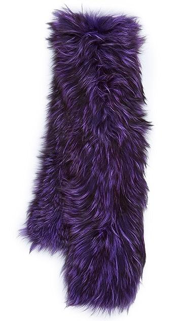 Adrienne Landau Knit Silver Fox Scarf