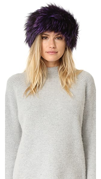 Adrienne Landau Fur Headband - Purple at Shopbop