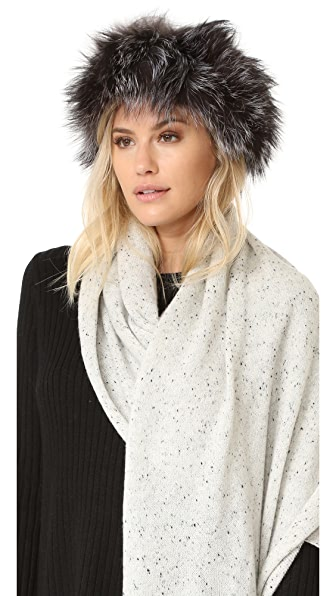 Adrienne Landau Fur Headband - Nat Silver at Shopbop