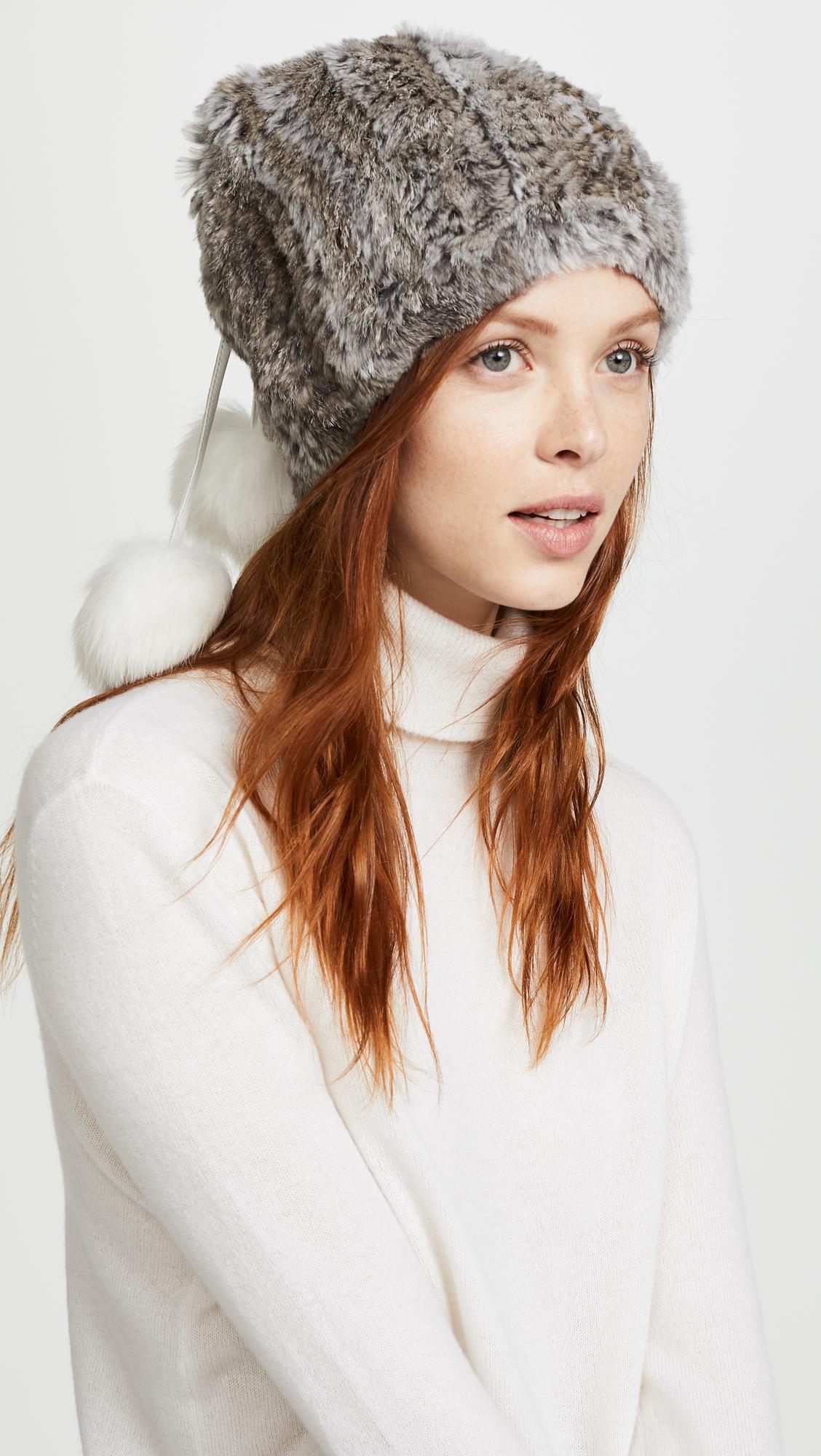 9403eaa4356 Adrienne Landau Fur Pom Pom Hat