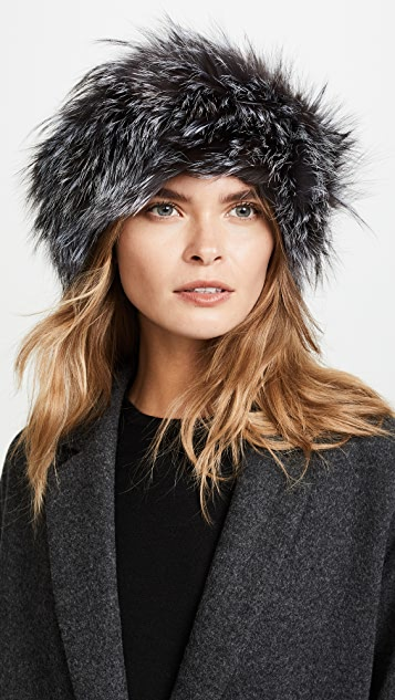 Adrienne Landau Fox Fur Headband
