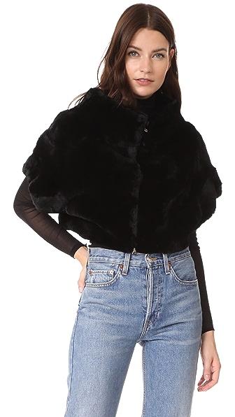 Adrienne Landau Rex Fur Little Zip Jacket at Shopbop