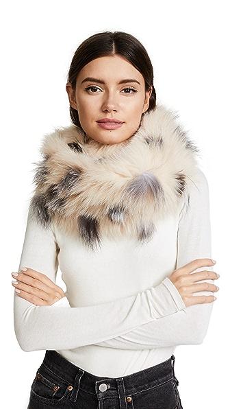 Adrienne Landau Spotted Knit Fox Scarf at Shopbop