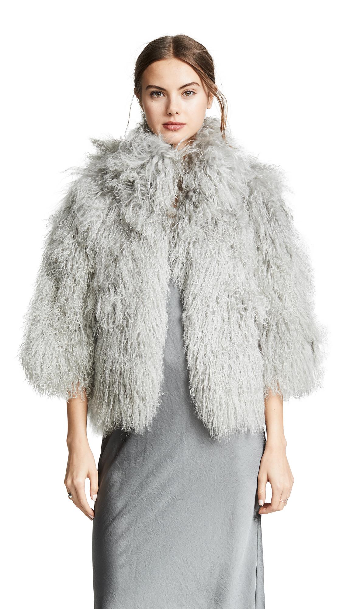 Buy Adrienne Landau online - photo of Adrienne Landau Mongolian Lamb Jacket