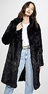 Adrienne Landau Rabbit Coat