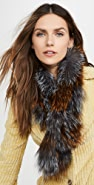 Adrienne Landau Silver Fox Pull Through Scarf