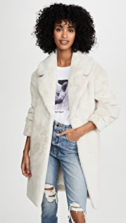 Adrienne Landau 修身仿毛皮夹克