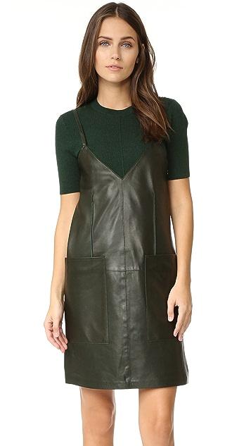 AERON Leather Shift Dress