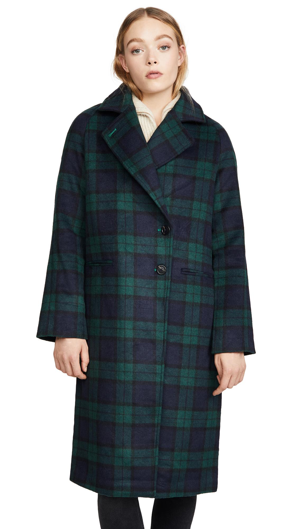 Buy Avec Les Filles Double Face Plaid Raglan Coat online beautiful Avec Les Filles Clothing, Jackets