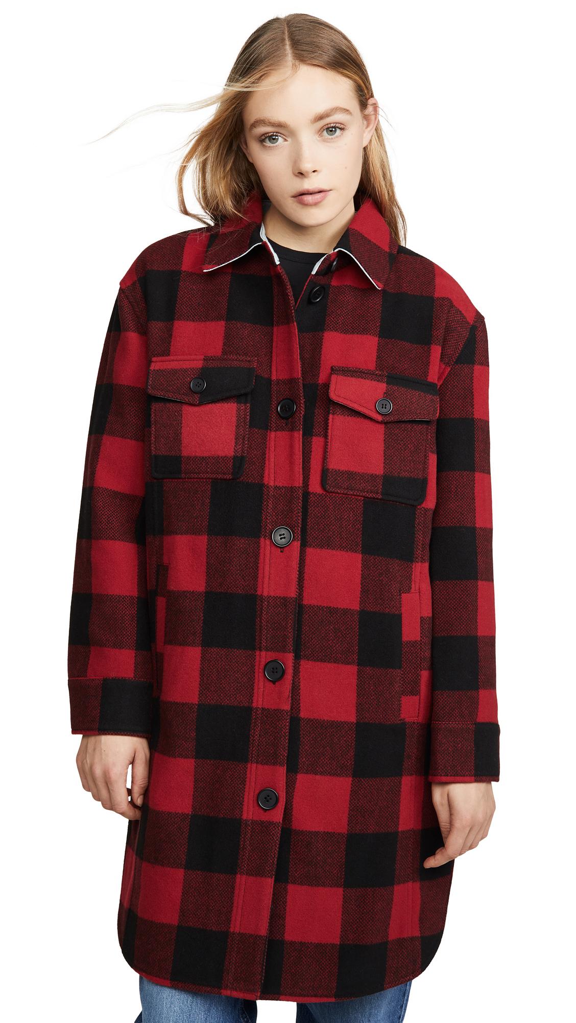 Buy Avec Les Filles Buffalo Plaid Wool Shirt Jacket online beautiful Avec Les Filles Clothing, Jackets