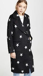 Avec Les Filles Двухстороннее пальто с рукавами реглан и принтом в виде звезд