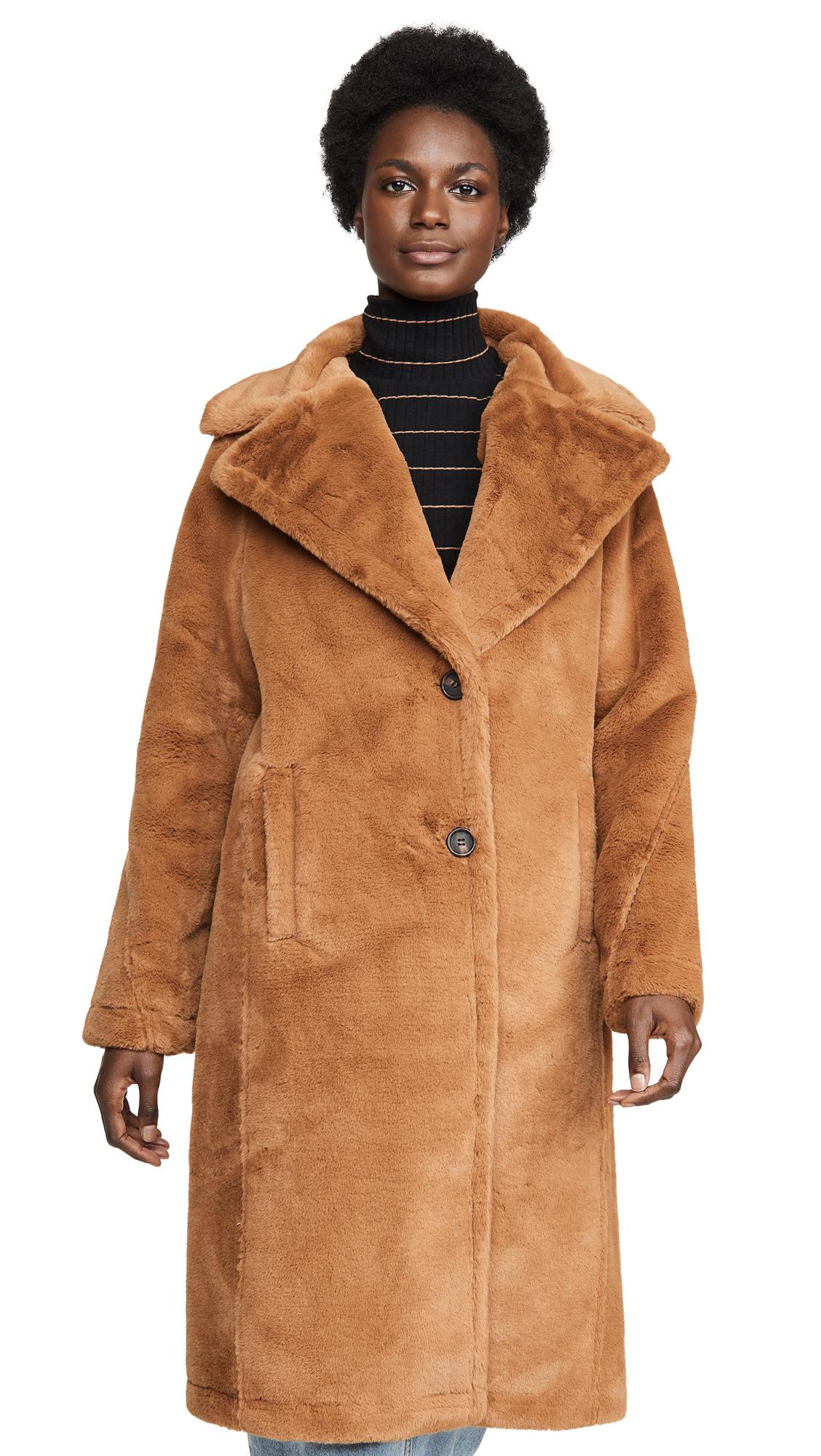 Buy Avec Les Filles online - photo of Avec Les Filles Single Breasted Faux Fur Coat