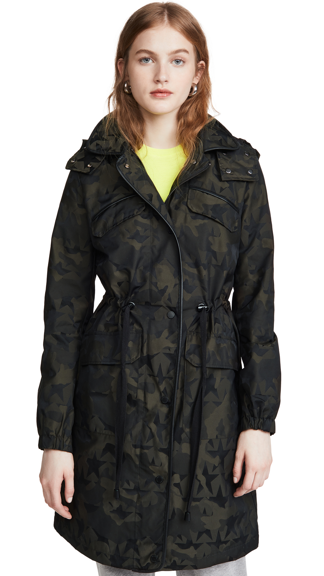 Buy Avec Les Filles Camo Star Anorak Jacket online beautiful Avec Les Filles Jackets, Coats, Trench Coats