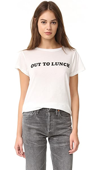 A Fine Line 'Out To Lunch' Tee - White at Shopbop
