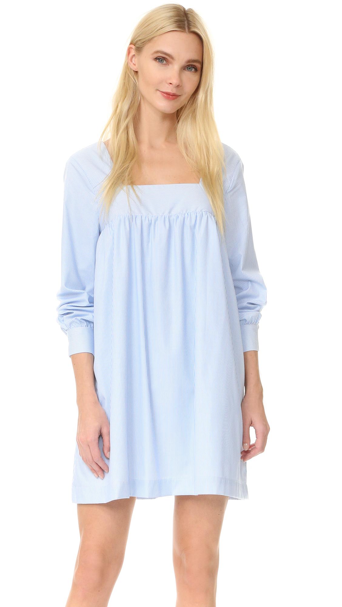 After Market Tie Dress - Blue Combo at Shopbop
