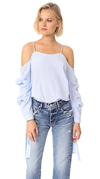 After Market Ruffle Sleeve Blouse