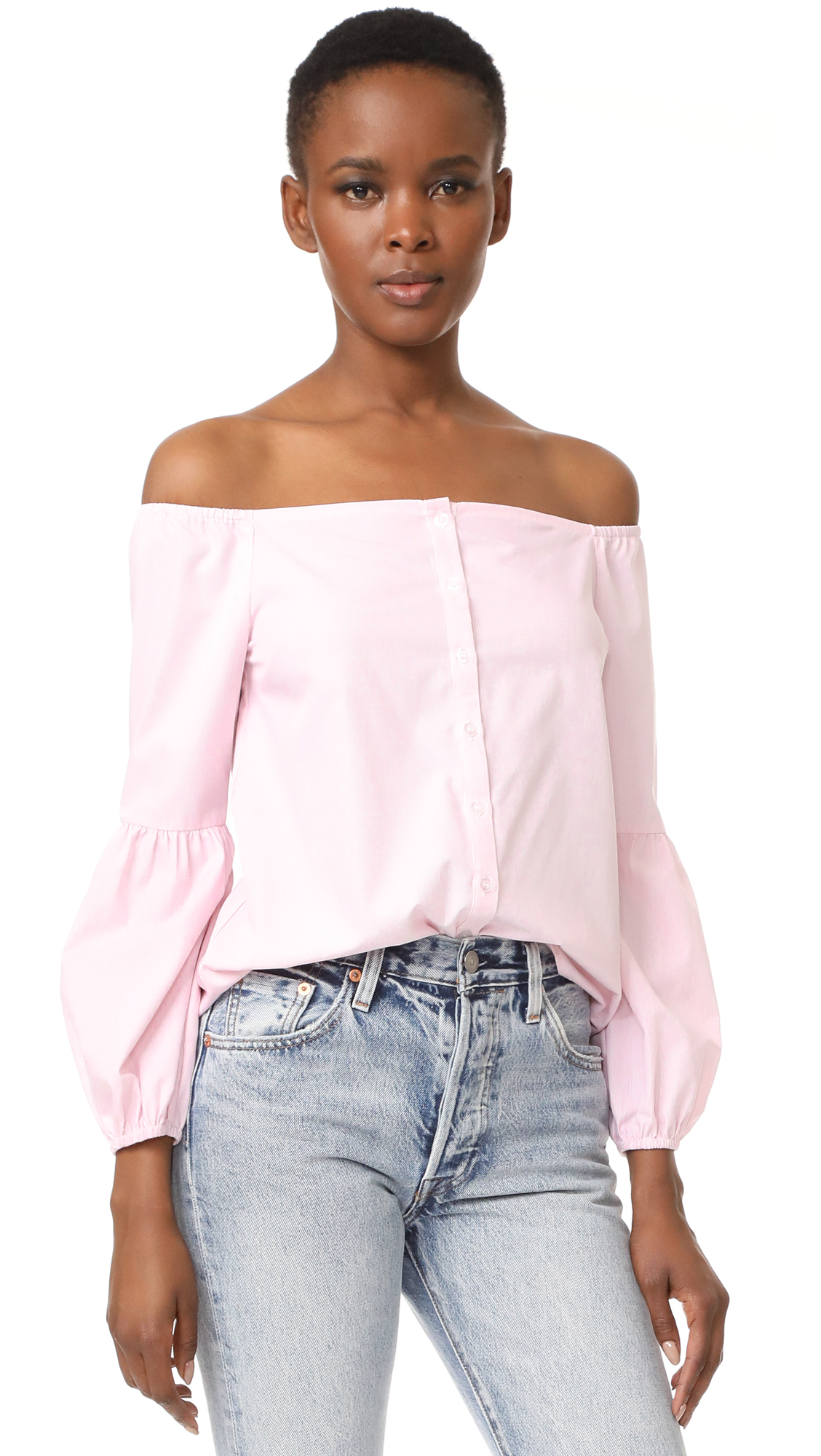 After Market Off Shoulder Blouse - Pink
