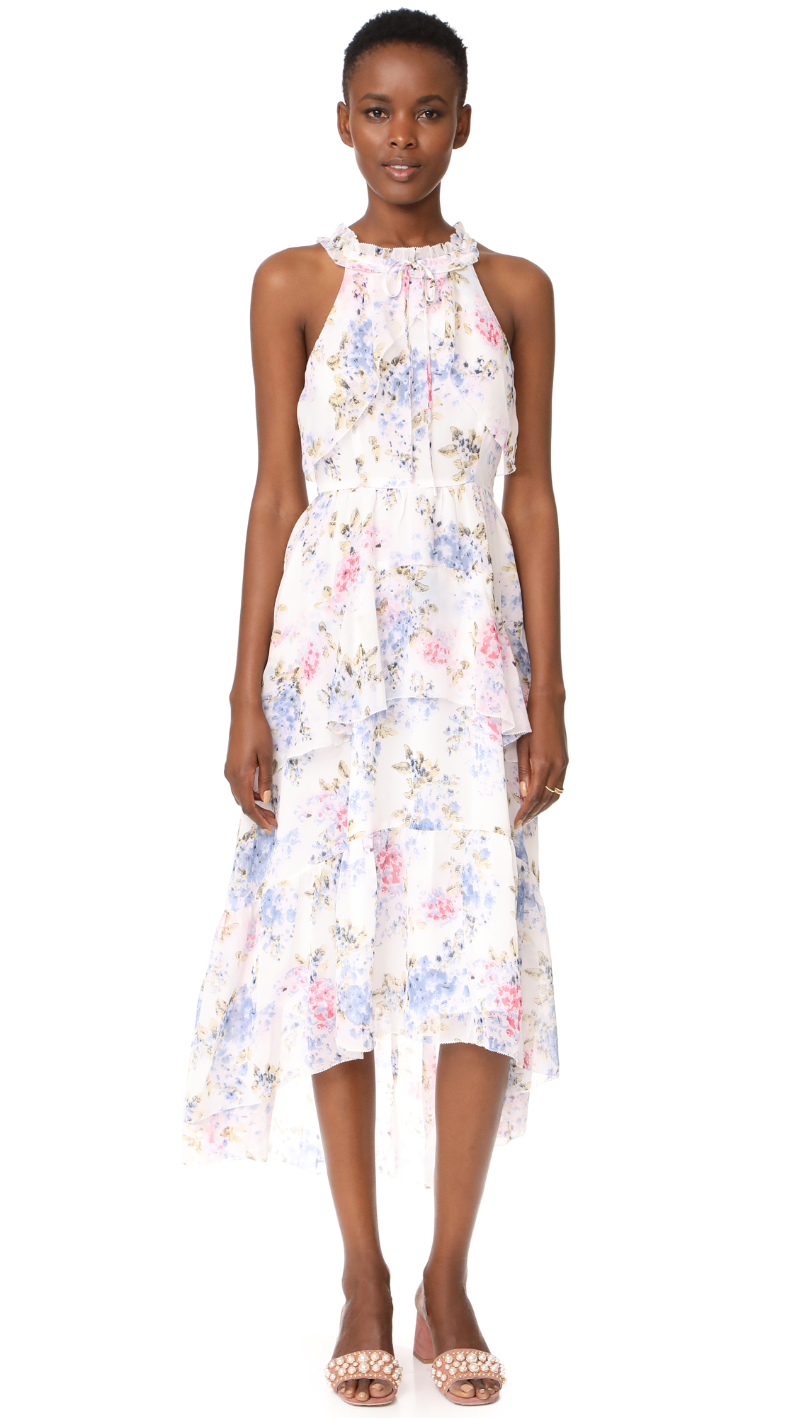 After Market Floral Maxi Dress - Pink Floral
