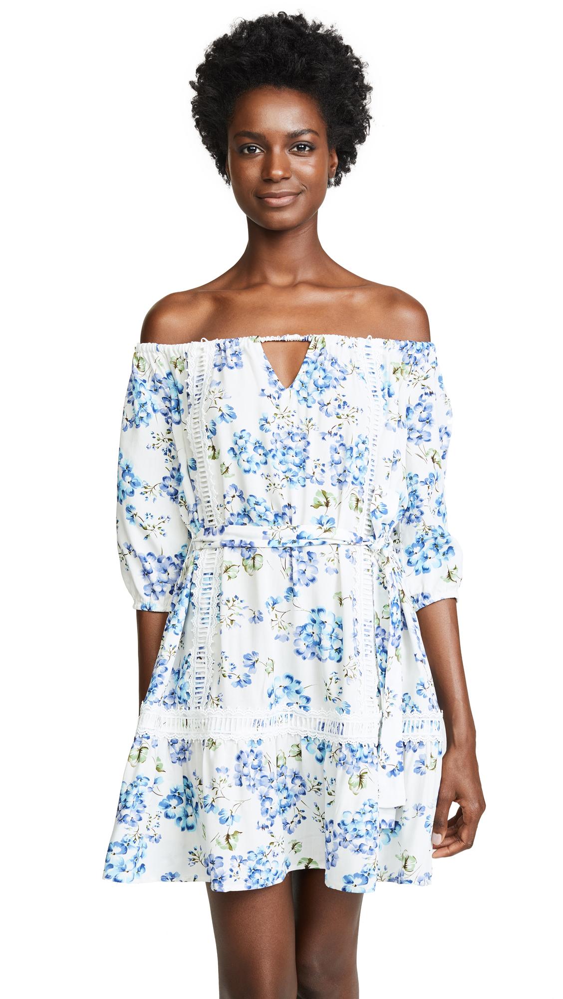 AFTER MARKET Woven One Shoulder Dress, White