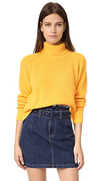 Again Daphne Turtleneck Sweater - Mustard at Shopbop