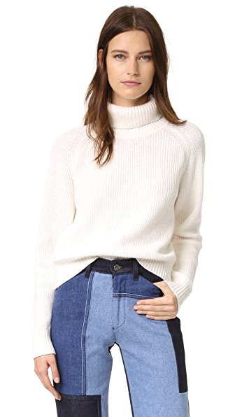 Again Daphne Turtleneck Sweater - White at Shopbop