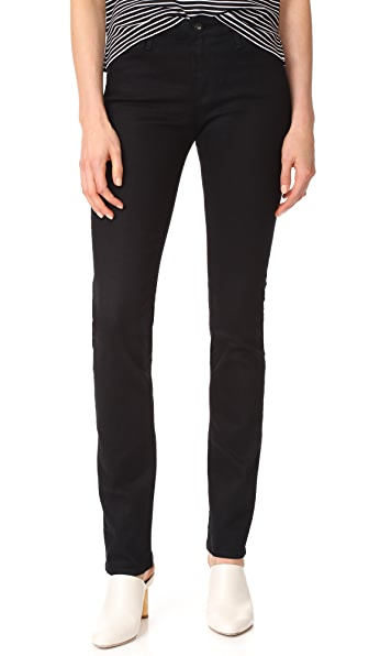 AG The Harper Essential Straight Leg Jeans - Overdyed Black