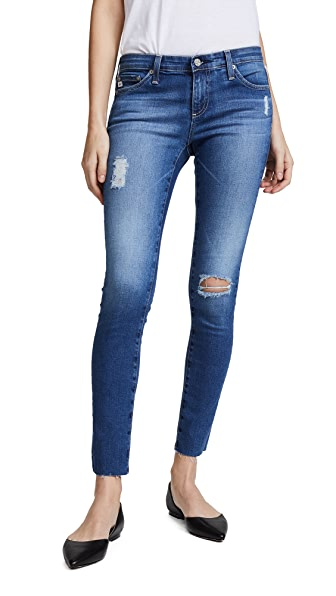 AG Raw Hem Legging Ankle Jeans at Shopbop