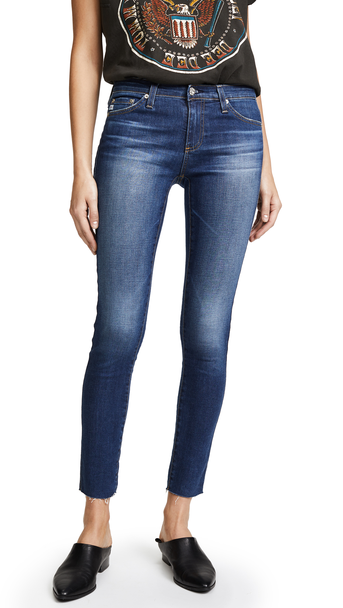 AG Raw Hem Legging Ankle Jeans - 7 Years Break