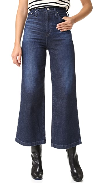 AG The Yvette High Rise Wide Leg Ankle Jeans