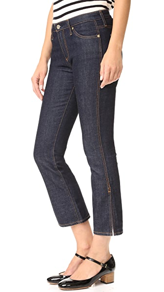 AG The Jodi Crop Side Slit Jeans - Lacquer