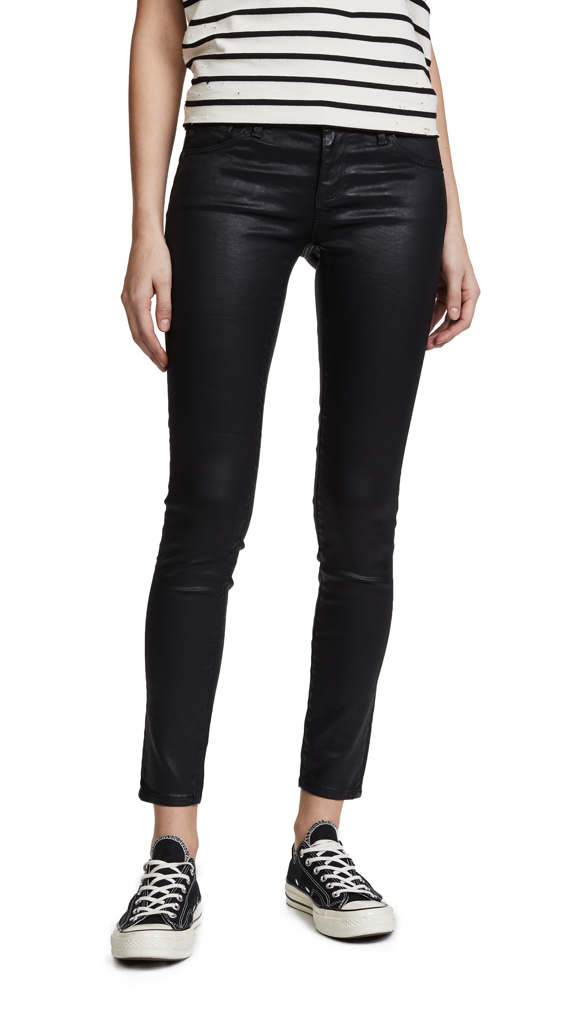 AG The Legging Ankle Jeans - Super Black