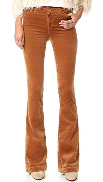 AG The Janis High Rise Flare Pants - Toffee Brown