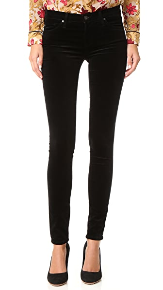 Ag The Super Skinny Velvet Pants - Super Black at Shopbop