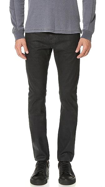 AG Dylan Coated Slim Jeans