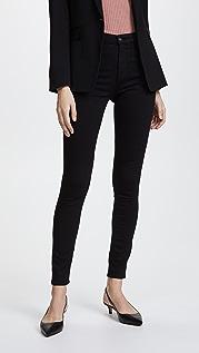 AG Высококачественные эластичные джинсы Farrah с высокой посадкой