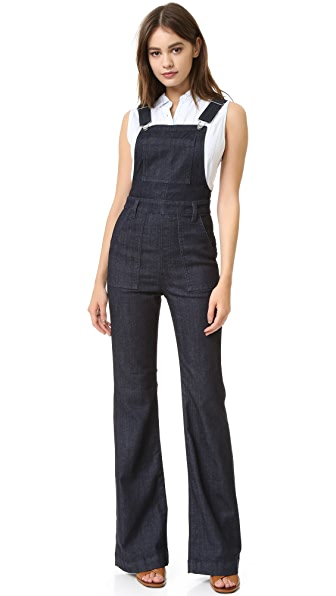 Ag The Lolita High-Rise Overall Flare Jean - Cutie at Shopbop