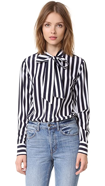 AG Arley Shirt - After Dark/White Stripe