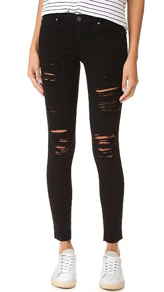 AG Super Skinny Legging Ankle Jeans - Darkest Night
