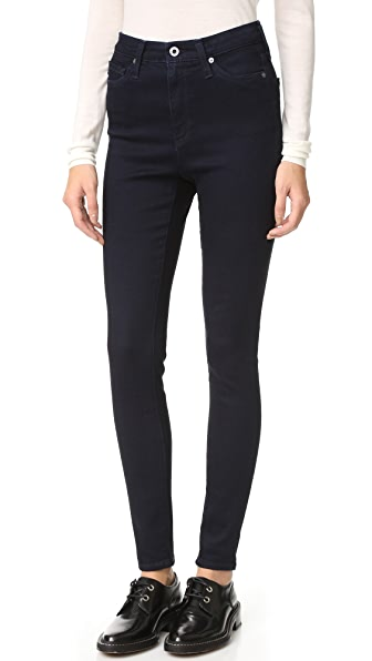 AG The Mila High Rise Skinny Jeans - Overdye Blue