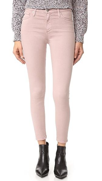 AG The Farrah Skinny Crop Jeans - Sulfur Deco Mauve