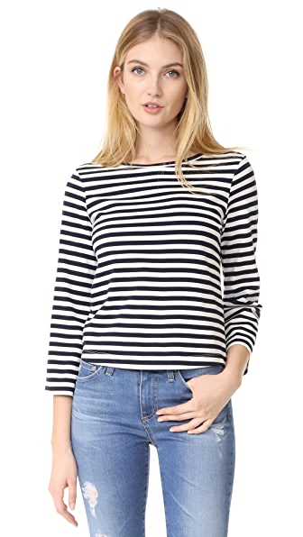 AG Lyric Bell Sleeve Top - Blue Night/True White Stripe
