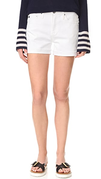 AG The Hailey Slouchy Shorts - White