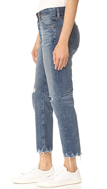 AG The Sloan Crop Straight Jeans