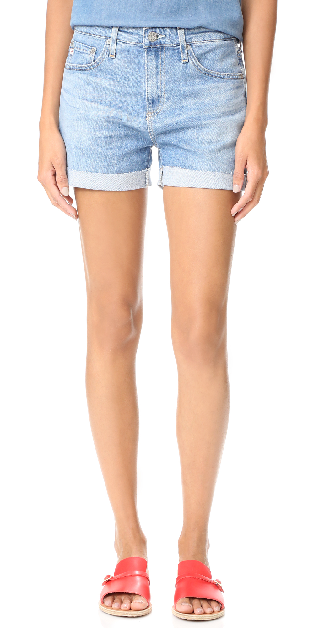 The Hailey Slouchy Roll Up Shorts AG