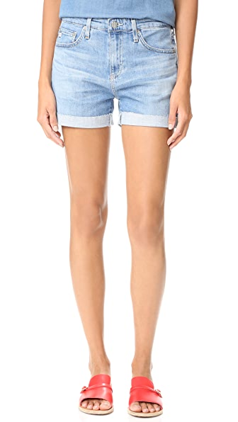 AG The Hailey Slouchy Roll Up Shorts