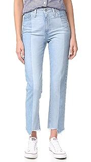 AG Винтажные джинсы с высокой талией Phoebe