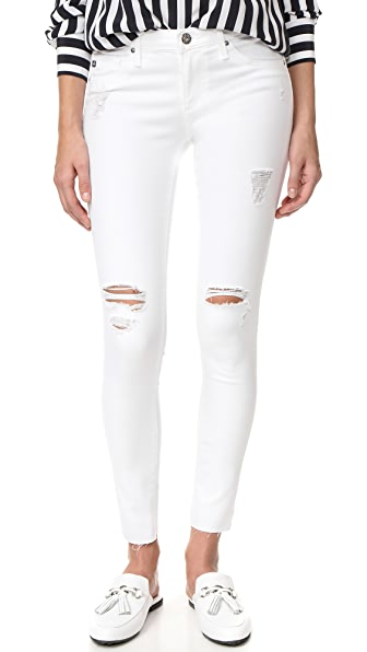 AG Legging Ankle Jeans - Worn White